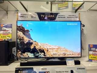"Samsung UHD Smart TV 50"" Free Soundbar Promo Free 1X Cicilan tanpa kartu kredit proses 3 menit"