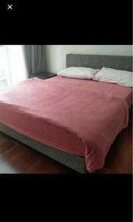 Minimalist king bedframe (reduced price)