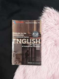 English for academic and professional purposes (grade 11 &12 books)