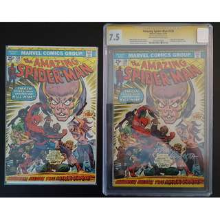 "Amazing Spider-Man #138,#138 CGC 7.5 SS (1974, 1st Series) Set of 2, Bronze Age Collectibles! CGC 7.5 Signed by the Legendary John Romita! ""One To Read,One To Keep"" Series."