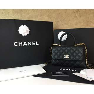 CHANEL A92990 COCO SMALL FLAP BAG WITH TOP HANDLE