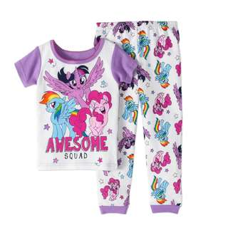 🚚 KOR095 My Little Pony Toddler Girl Cotton Tight Fit Pajamas, 2pc Set