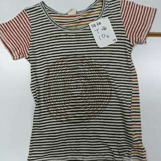 短袖條紋T恤