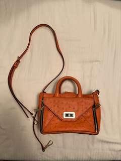 Little luxury like orange leather bag - Diane von futstenberg