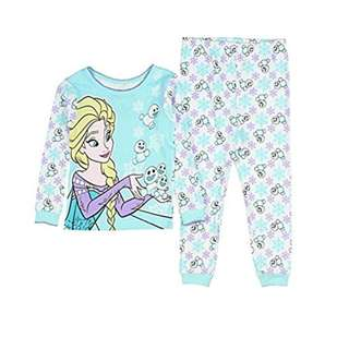 🚚 KOR096 Disney Frozen Elsa and Olaf Little Girls' Toddler 2 Piece Pajama Set