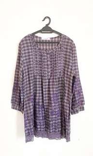 Dorothy Perkins Plaid Long Slv Shirt