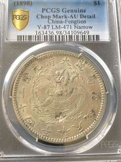Very Rare Fengtian silver dollar coin -For sharing only