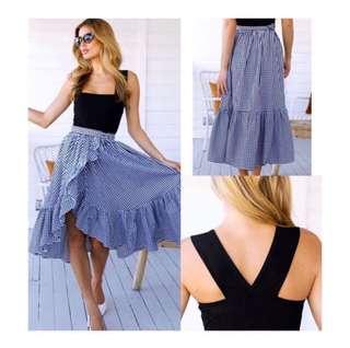 Top + Ruffles Skirt