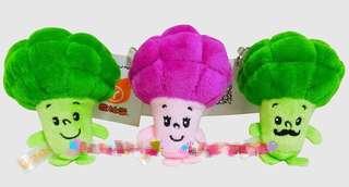 🚚 花椰菜 娃娃 小玩偶 吊飾 高10公分 2個100元 蔬菜娃娃 鑰匙圈