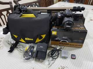 Nikon d3300 with 18-55 Kitlens