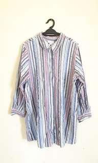 Avenue Stripes Long Slv Shirt