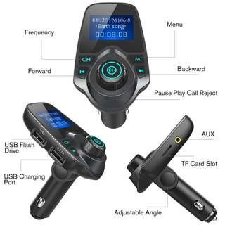 In Car Hands Free Bluetooth Music FM Transmitter Kit - 藍芽車載音樂播放器 免提 - S2523