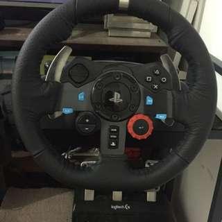 Logitech g29 steering wheel include gear shifter dan kaset GT Sport