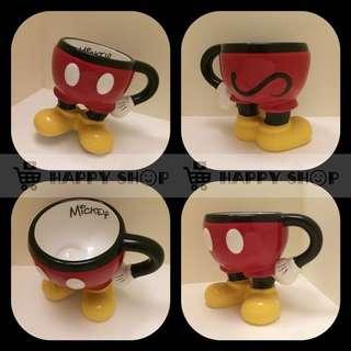 🚚 《正版全新》米奇馬克杯 Mickey Mouse 迪士尼 Disney 下身插腰立體造型馬克杯 陶瓷杯