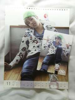 [KPOP] Infinite Dongwoo 2012 Official Photocard + Calendar photo