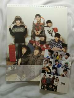 [KPOP] Infinite 2012 Official Stickers (10pcs) + Calendar photo