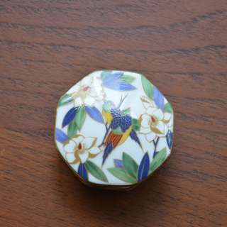 Small Octagon Trinket Box 5 cm. Japan made,marked