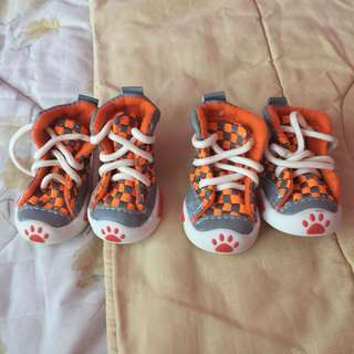 Cute Dog Shoes Size 3