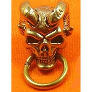 Skull Goat Conchos With O Ring Screw Back Type