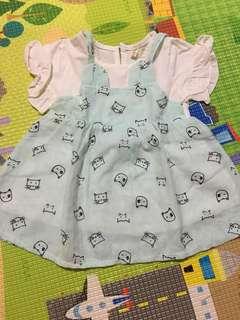 Kitty dress baby blue(nett price)