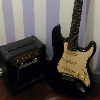 Fernando Electric Guitar & Marshall Amplifier