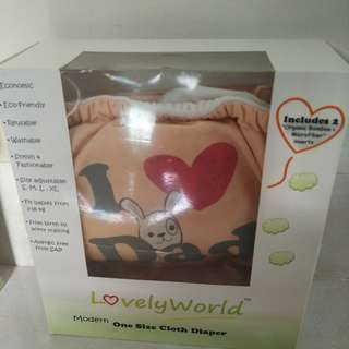 USED - LovelyWord Cloth Diaper