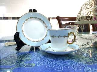 Cup, Saucer and Cake Plate set