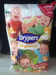 Drypers diapers sample