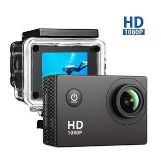 """538. Action Camera, VicTsing Underwater 1080P Full HD 12MP 170° Super Wide-angle 2.0"""" LCD Waterproof 30M with 900mAh Rechargable Battery"""
