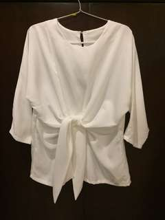 Knot at front blouse