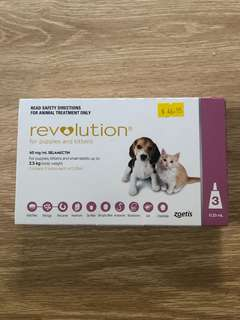revolution flea and worming ect. Puppies & Kittens