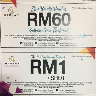 Hannan Medispa RM60 Free Voucher