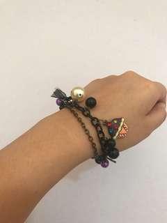 Anna sui black bracelet