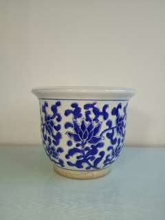 70's Bule And White Porcelain  Pot Perfect condition