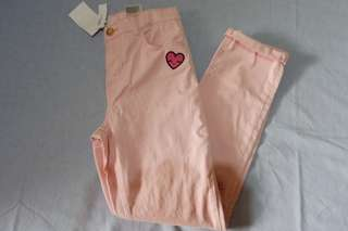 H&m light pink pants