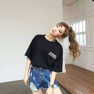 Statement shirt oversized top croptop hoodie for men and women