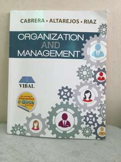 Organization and Management (HALF PRICE)