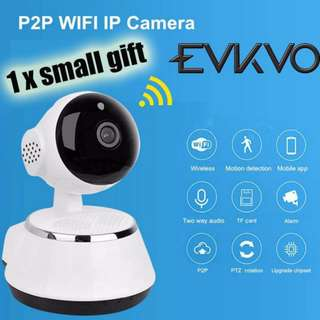 EVKVO Wireless IP Camera Wifi HD 1080P Full 2MP P2P Baby Monitor Night Vision