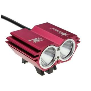 540. SolarStorm @ Bike Light 2*CREE XM-L U2 4 Modes LED Dual Head Bicycle light/bicycle front light (Red)