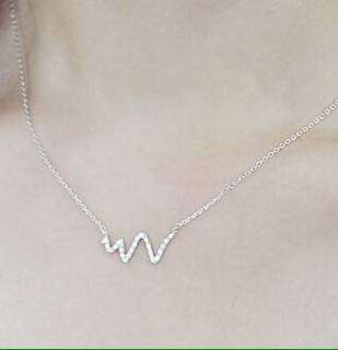 Heartbeat 92.5 Sterling Silver Necklace
