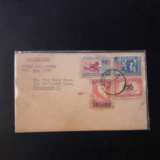 Federation of Malaya 1958 First Day Cover