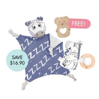 Bam Cuddle Blankie Set (FREE Wooden Teether)