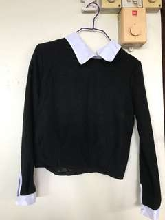 Black Long Sleeve Top cropped