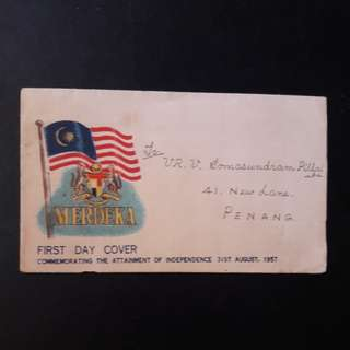 Federation of Malaya  1957 First Day Cover