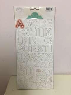 Alphabet Stickers Heidi Swapp Color magic chipboard alphas