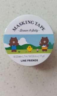 Line friends Brown 熊大 膠紙 包平郵
