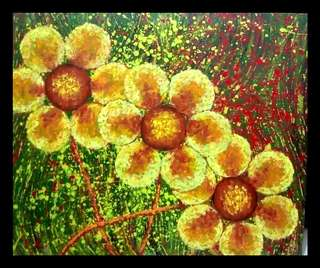 #18 Floral Abstract Painting