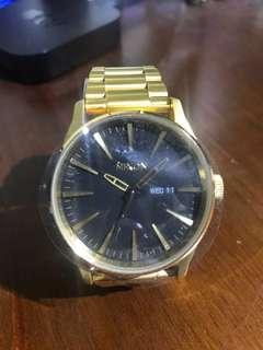 Nixon Gold Sentry watch