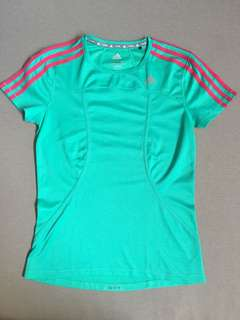 Adidas Teal Dry-fit Shirt