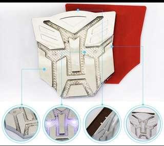 Transformers autobots LED emblem solar powered